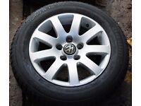 "15"" Alloys x4 + spare VW Passat with new tyres (also Golf, Polo, Audi, etc.)"