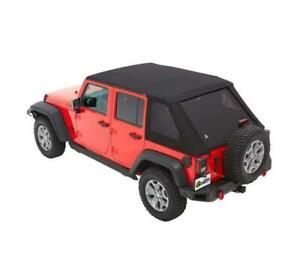Bestop Trektop NX Soft Top for Jeep Wrangler JK 4 Door 2007-2018 | Black Diamond | Free Shipping at Motorwise.ca