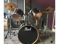 Full Pearl Drum Kit with Cymbals