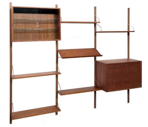 Vintage Poul Cadovius Royal System wandsysteem wall unit 076