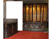 Chinese style set of Large Display Unit and 2 doors Sideboard