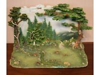 Faerie glen diorama with 3 fairys