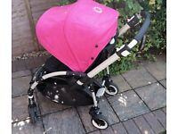 Bugaboo Bee Plus in Hot Pink Excellent Condition