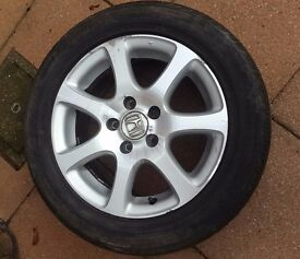 "Honda Civic 16"" alloy wheel and tyre"