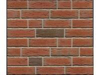 Brick tiles NF689 red - black flamed Handmoulding