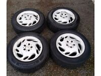 MERCEDES WHEELS WITH VERY GOOD TYRES PCD 5X112