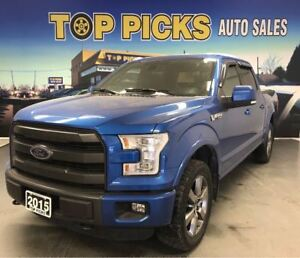 2015 Ford F-150 Lariat Sport, Leather, Nav, Pwr Boards, Sunroof!