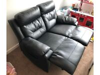 2 Seater leather sofa for sale (manual recliner) in Hucknall