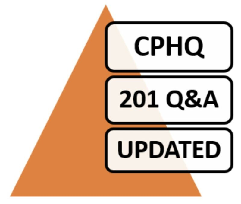 Certified Professional in Healthcare Quality CPHQ Exam 201 Q&A PDF File!