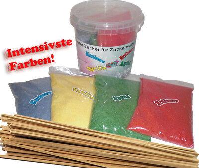 800Gr Aromazucker + 100 Zuckerwattestäbe für Zuckerwattemaschine Zuckerwatte
