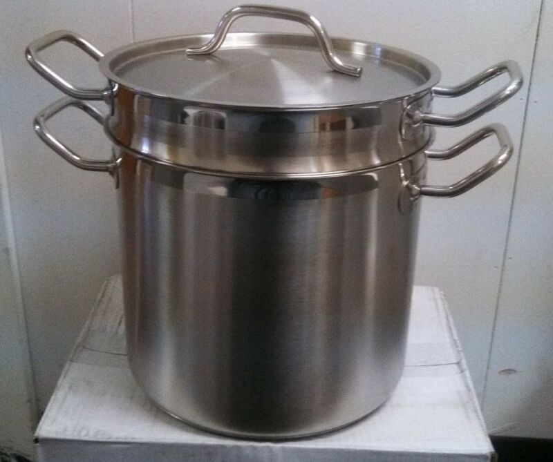 20 QT. PASTA COOKER 18/8 STAINLESS INDUCTION READY - COMMERCIAL QUALITY POT