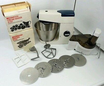 Bundle Kenwood Chef A702 White 350w Kitchen Mixer Attachments Made In England
