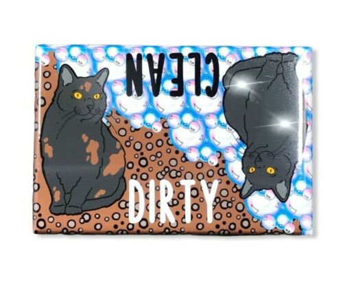 Black Cat Dishwasher Magnet Kitchen Cleaning Tool Accessories
