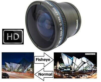 0.18x Hi Def MK II Fisheye Lens For Canon EOS Rebel T8i 90D