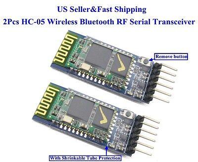 2Pcs HC-05 Wireless Bluetooth RF Serial Transceiver Module 6Pin RS232 TTL US