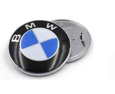 BMW 82mm 2 Pin Car Emblem Chrome Front Badge Logo For BMW Hood