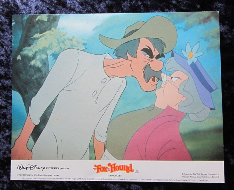 THE FOX and the HOUND lobby card #4 WALT DISNEY mini uk card - 8 x 10 inches