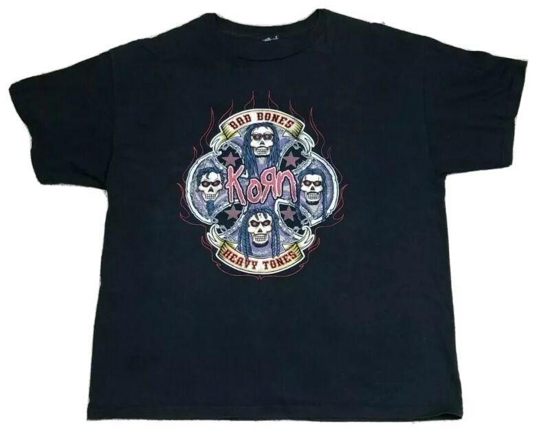 Korn Bad Bones Heavy Tones Rock Tee T-Shirt Adult Size 22.5x29