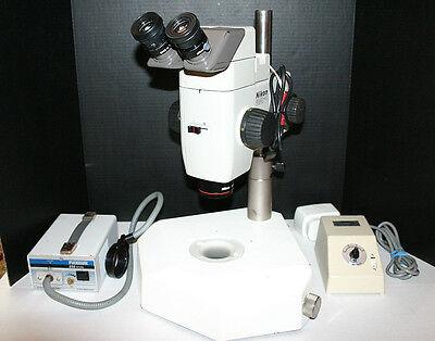 Nikon Smz-u Stereozoom Microscope Diascopic Pole Stand 4-38x Magnify Nice