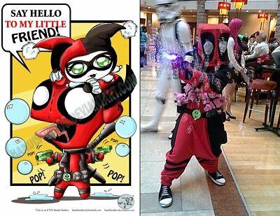 Deadpool Gir Kigurumi Marvel Invader Zim Cosplay - Gir Cosplay Kostüm