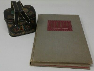 SINGER SEWING BOOK Mary Brooks Picken 1951 Instuctions Sewing Basket Shaped Tin