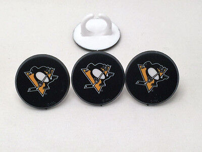 12 Pittsburgh Penguins NHL Hockey Cupcake Rings Toppers Party Favors - Pittsburgh Penguins Party Supplies