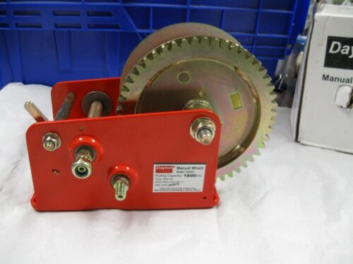 DAYTON Hand Winch Spur Gear No Brake 1800 lb 12U361