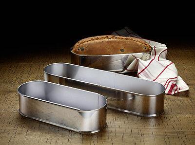 WESTMARK Brotbackform Stollenform Kuchenform Edelstahlform verstellbar oval