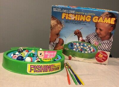 Vintage FISHING GAME 1987 Battery Operated Toy RARE HTF W BOX