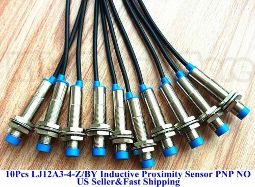 10Pcs PNP NO LJ12A3-4-Z/BY Inductive Proximity Sensor Switch DC6V-36V US