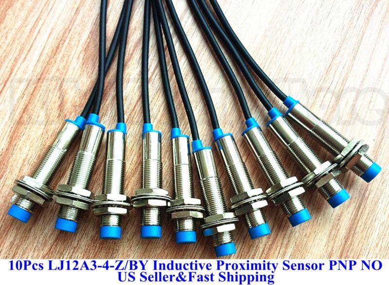 10 PCS New LJ12A3-4-Z/BY Inductive Proximity Sensor Switch PNP DC6-36V US