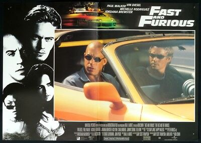FAST AND FURIOUS Paul Walker, Vi Diesel POSTER AUTO CAR RANCING 2001 FOTOBUSTA