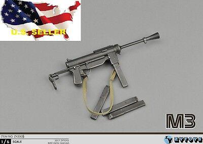 1/6 scale M3 Submachine gun World War II US Army Toys Weapon Models PHICEN ❶USA❶ - Toy Submachine Gun