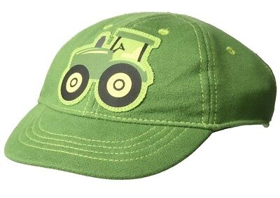 1X John Deere Green Tractor Baseball Hat Cap Infant 6-12 Month; 100% Cotton
