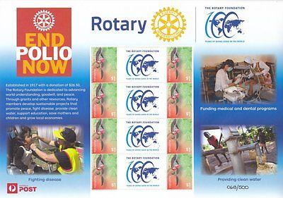 2017 Australia - SES / P-Stamp Sheet - Rotary Club - End Polio Now