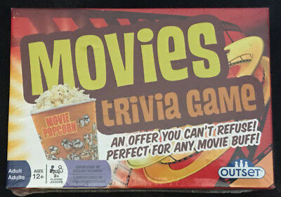 Movies Trivia Family Card Game! NEW AND SEALED! Perfect For Any Movie Buff!