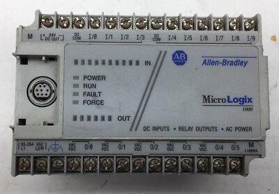 Allen Bradley 1761-l16bwa E Micrologix 1000 120240vac 10 Dc Inputs 6 Outputs