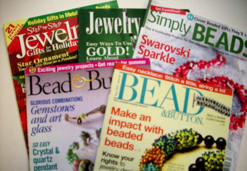 Lot of 2 Bead & Button, 1 Simply Beads  and 2 Jewelry Crafts Magazines