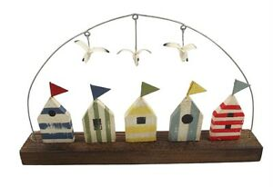 Shoeless Joe Beach Hut with Seagulls Nautical Home Decoration Bathroom Accessory