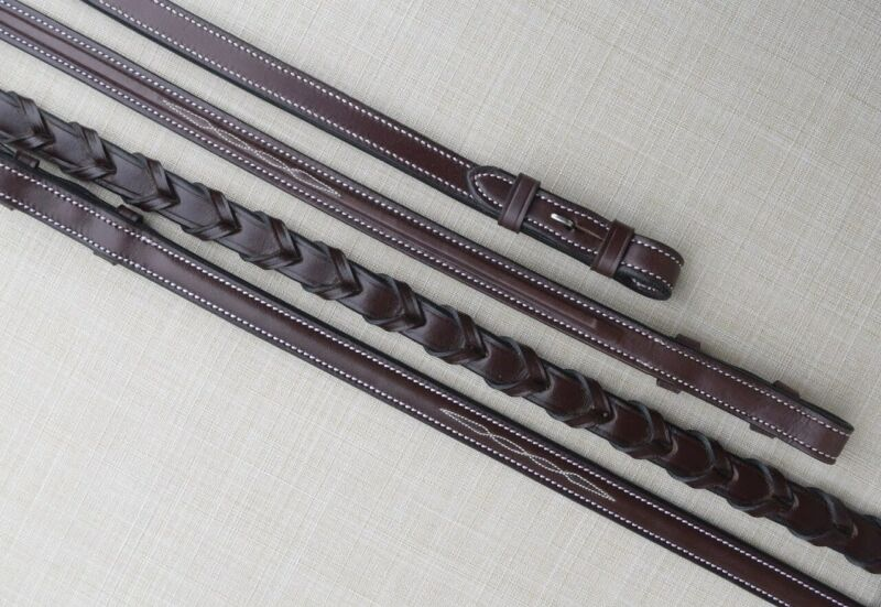 KL Select Red Barn Fancy Stitched Laced Reins