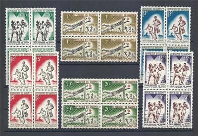 Dahomey 1963 Sc# 172-77 set Friendship games Dakar Sport French colo blocks 4MNH