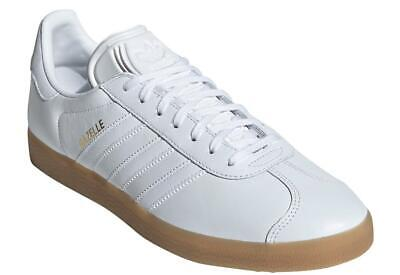 Adidas Originals Gazelle Leather Shoes Trainers White Gum 100% Authentic