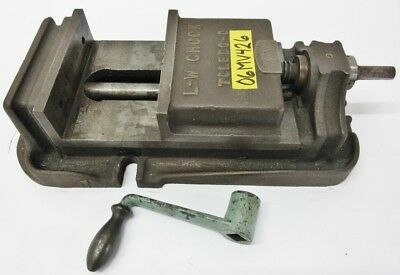 Lw Chuck 6-12 General Purpose Milling Vise 5 Jaw Opening W Handle T-1201