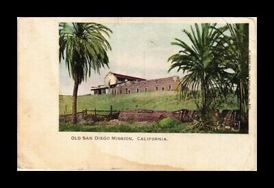 DR JIM STAMPS US OLD SAN DIEGO MISSION CALIFORNIA VIEW POSTCARD