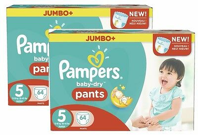 Pampers Baby Dry Pants Größe 5 Junior 12-18kg Jumbo Plus Pack 128 Windeln