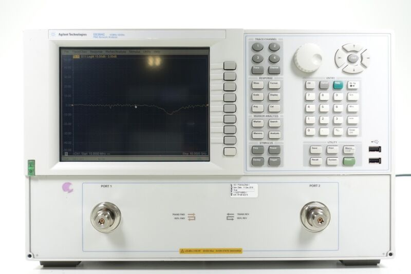 Keysight Used E8364C 10 MHz - 50 GHz vector network analyzer 2 Port (Agilent)