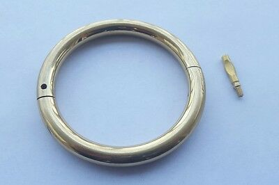 Bull Cow Cattle Nose Ring Brass 3.5