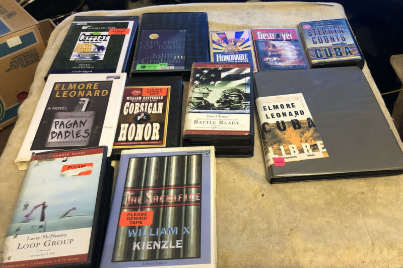 Mystery/ Adventure/ Suspsense Audio Book Cassette Lot 14