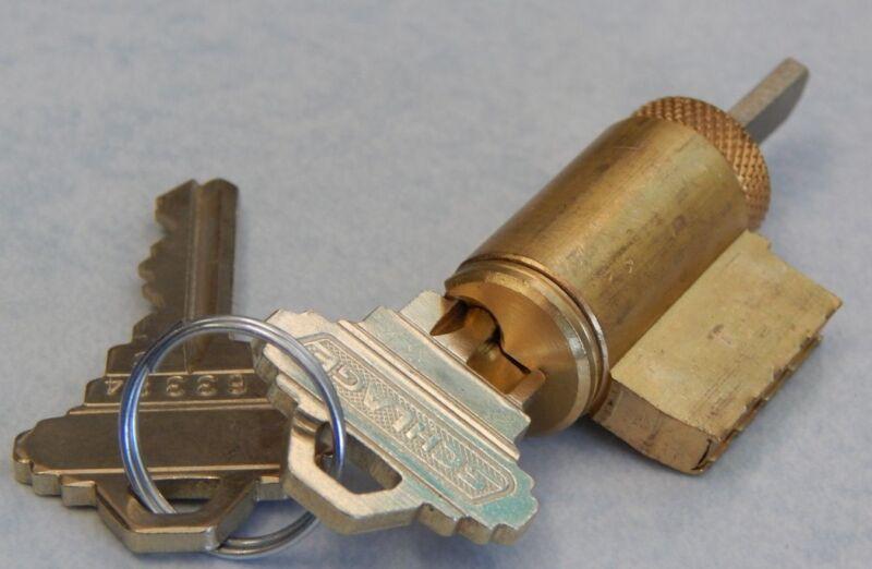 Schlage Original Key in Knob Cylinder, 6 Pin Keyed 5 605 Finish, C Keyway New