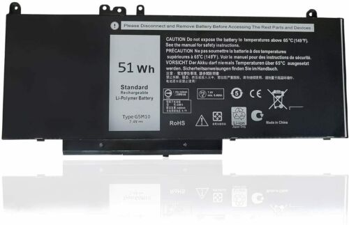 51WH 7.4V G5M10 Battery For Dell Latitude 3160 E5250 E5450 E5550 WYJC2 8V5GX US